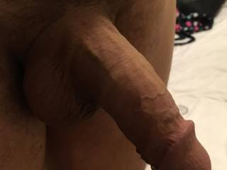 To hot need some pussy juice to cool my cock down who would like to slide there pussy lips up and down my shaft