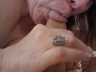 It is time to drain my man's hard thick cock! Ohh... Good to the last drop!
