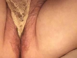 Mmm love the feeling of my panties in my pussy
