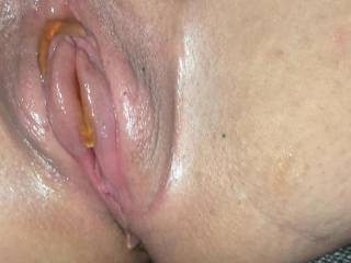 Girlfriends oily and vacuumed pussy ready to get stuffed to the maximum