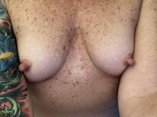 Getting closer to the weekend. Who wants these hard nipples??