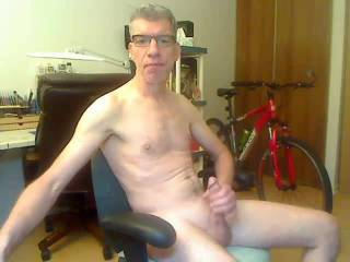 Stroking on cam in the video chat room....