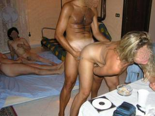 party with nice couples looking doggy performance