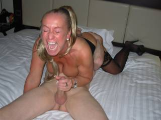 Lisa gets a tongue in her pussy and a finger in her ass. I think she likes what she gets!! xxx