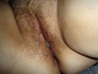 My lovely hairy wife