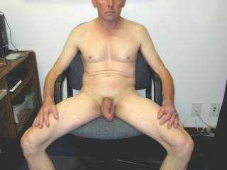 nude and masturbating in office
