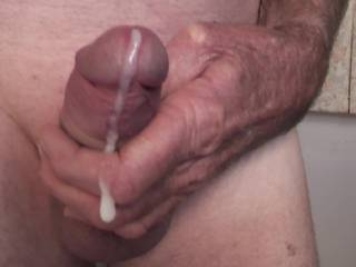 Just felt like having a play with my cock, I love watching the white fluid flow out of it & onto my fingers. Would you like it to flow over your fingers or tongue ?