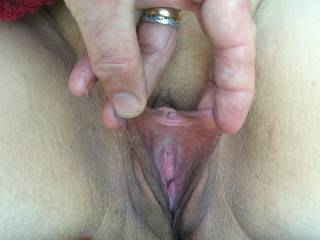 she loves her lips and pussy spread