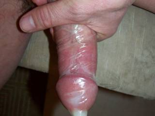 condom full of cum