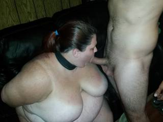 Tied her up and invited guys to walk up and take turns