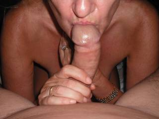 I love sucking my Hubby\'s lovely smooth thick cock.