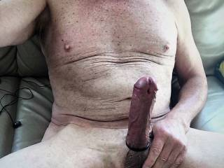 Who wants to jump on my big white cock?