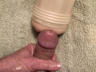 Aaaaaand spent. Wow! That was unbelievable!  Orgasm was so intense.  Too bad we can't see that great load of thick, creamy sperm that's been deposited there!