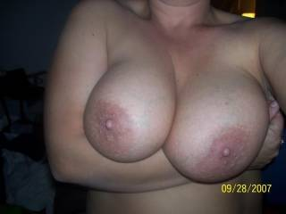 M showing me her beautiful tits!