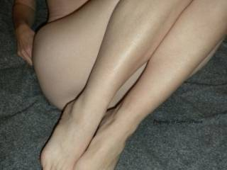 Love to rub my cock all over her feet and legs while I lick her sweet pussy