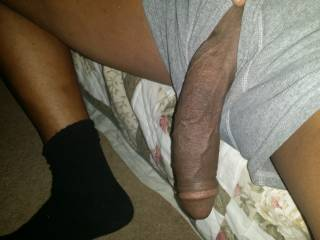 Would my wrapping my lips around that gorgeous thick black cockand suck on it be the kind of action you'd enjoy?  I love a dangling hot sexy cock like yours.  MILF K