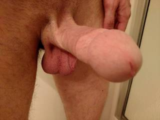 Omg that sure is a nice stiff young cock   Let me at it