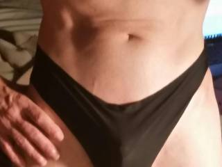 That panty also shows off your hard cock outline very well.  Want to see you in the other colors of that panty too.  Even better if you cum in them. BTW what brand are they?  I have a Target close by so I could get some too.