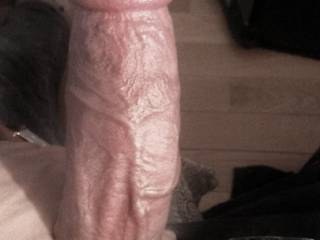 My big veiny cock. Don\'t you want to get on your knees and worship this great cock?