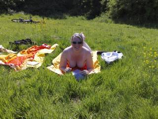 summer day nude outdoors