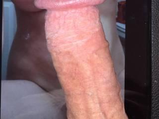 My hard cock between your beautiful breasts.