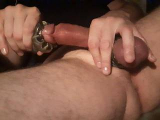 Chatting with a friend and using my fleshlight quick shot