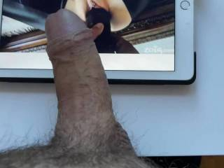 Horny at home office during Covid, had to take quick one to this lovely video, wanna play like this witt wife:), what is your preferred dildo color 😎😎