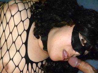 Tied and sucking