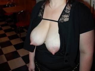 Someone sucked them titties before she picked up the pool stick