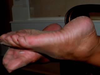 Your nylon clad feet are the perfect location to shoot my hot cum