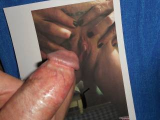 Wanting to rub my swollen cock-head against Barbe's clit and wet pussy and cover her with my hot cum  >:)