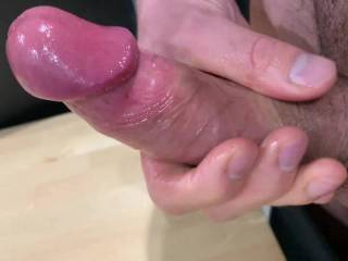 Second cumshot of the day. I thought I'd take a video to show you how hard my cock gets. Do you like that warm, thick cum at the end of the video?