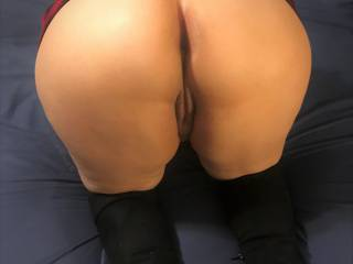 I have been such a naughty school girl by not wearing panties. What are you going to do to me?