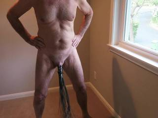 I couldn\'t find a fringe thong for Mr. F, so this had to do. His cock is covered (mostly); do you think he could wear this in public?  From Mrs. Floridaman