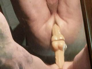 Just got a new toy and had to try it out. Felt damm good  having it sliding in and out of my ass. .