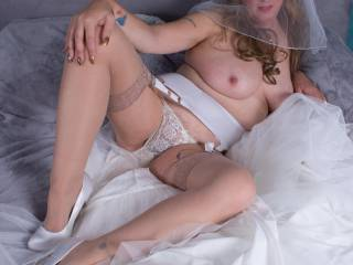 Another image from my Bridal set.....Hope you enjoy seeing me lie this? x