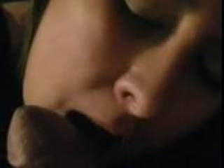 Her tongue feels so good on my cock.