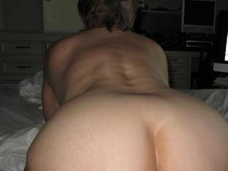 I love this one. Really shows the shape of her ass and what a perfect asshole i get to fuck!