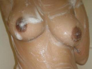 slippery tits for a titty fuck anyone?