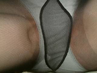 I LOVE pantyhose over panties! It's a double present to unwrap, plus it brings out a better bouquet from the woman's pussy.