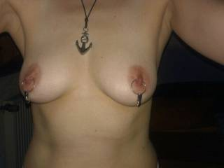 Her tits with new jewelry
