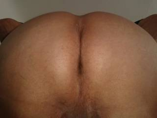 I hope all you horny guys with nice big hard cocks will like this photo of my bottom which is ready and waiting.   Good photo to have a wank over.  james