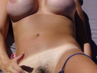 Very nice! Gorgeous hairy pussy! I'd love to lick it,suck it,fuck it and cum all over it! May I?