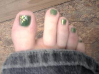Fresh paint on sexy toes