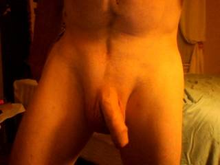 Fantastic body and superb uncut cock!  I have one like yours!
