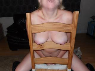 pose with chair