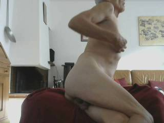 Come behind me raise my leg up and bang me hard and play with my smooth shaved mature cumslut body