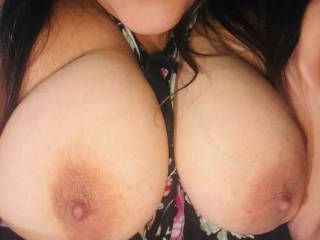 She loves her hard nipples sucked on!! Who's gonna help me