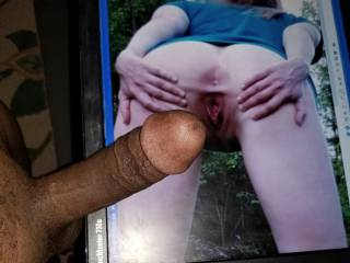 sluttyhottie met me on the trail with a wet spread pussy...want to fill her with BBC