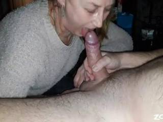 Let my sub play with my cock. She love to suck it.